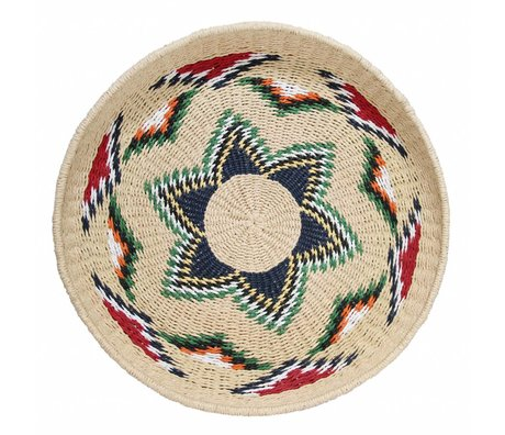 Storebror Mand Native geweven multicolour papier L ⌀52x9cm
