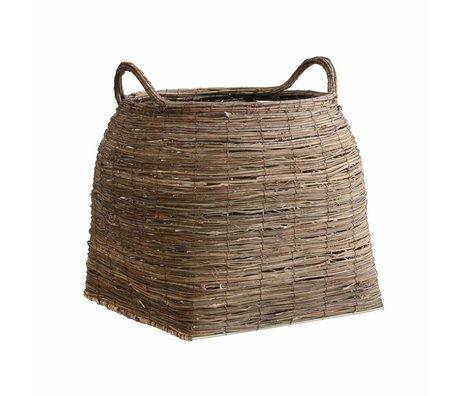 Storebror Mand Grass bruin rietgras 35x35x42cm