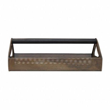Storebror Opbergkist Toolbox tray bruin metaal 50x24x17