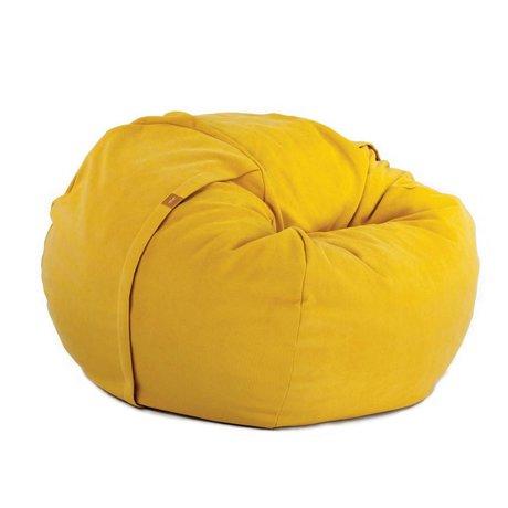 Vetsak Zitzak Neo eenpersoons geel polyester ø110x70cm 600liter