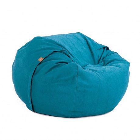 Vetsak Zitzak Neo eenpersoons blauw polyester ø110x70cm 600liter