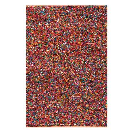 LEF collections Vloerkleed Popcorn multicolour gerecycled katoen 120x170cm