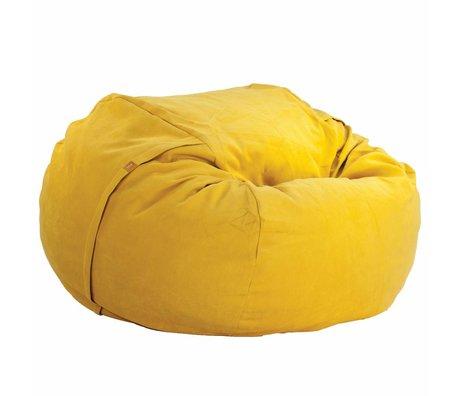 Vetsak Zitzak Neo tweepersoons geel polyester ø140x90cm 1000liter