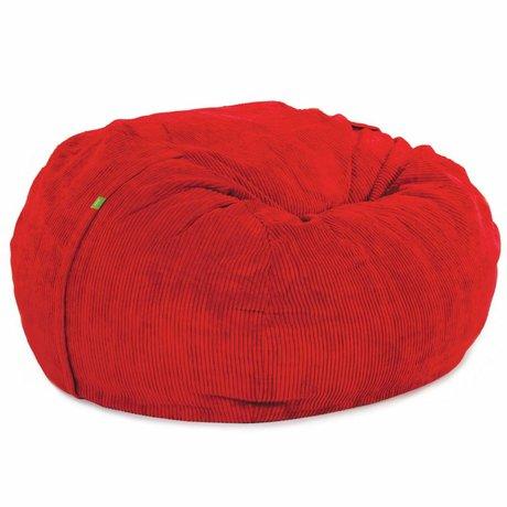 Vetsak Zitzak Cord velours tweepersoons rood polyester ø140x90cm 1000liter
