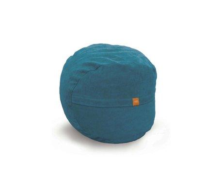 Vetsak Voetenbank Neo blauw polyester ø60x45 60liter