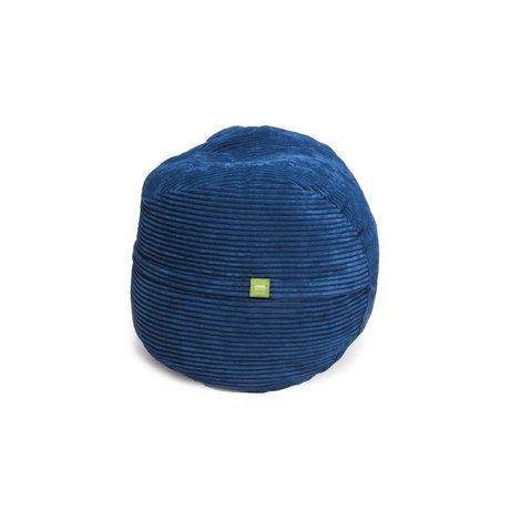 Vetsak Voetenbank Cord velours blauw polyester ø60x45 60liter