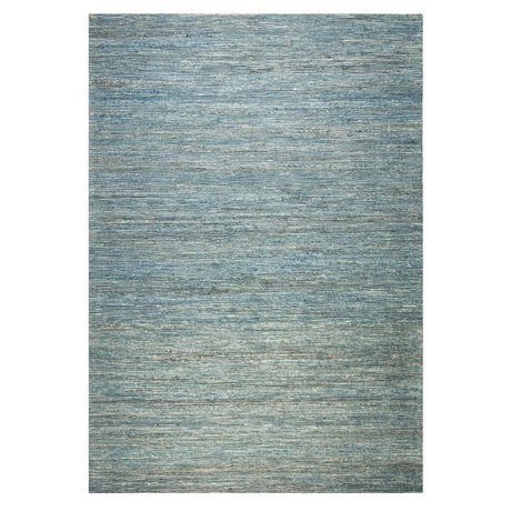 LEF collections Vloerkleed Blues blauw jute kunstzijde 160x230cm