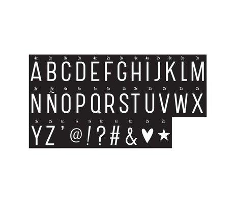 A Little Lovely Company Letters Lightbox monochrome 6,5x3,5cm