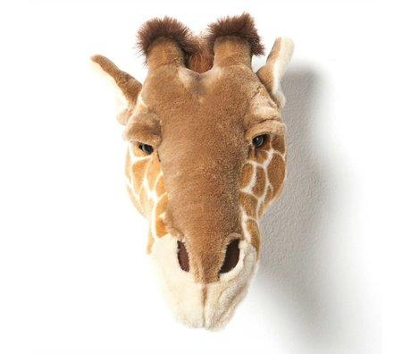Wild and Soft Dierenkop giraf Ruby bruin textiel 34x19x28cm