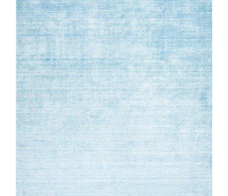LEF collections Vloerkleed Bamboo blauw textiel 160x230cm