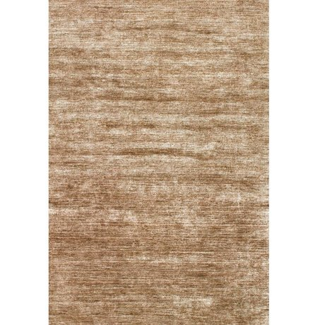 LEF collections Vloerkleed Bamboo bruin textiel 160x230cm