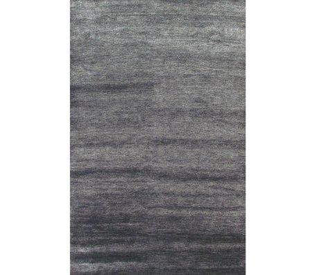 LEF collections Vloerkleed Bamboo grijs textiel 160x230cm