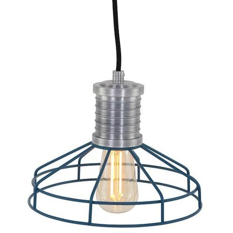 Anne Lighting Hanglamp Anne L Wire-O blauw metaal ø23x16cm