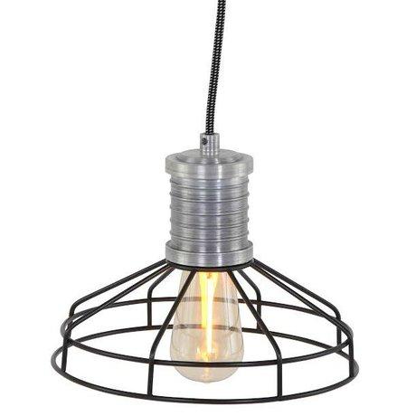 Anne Lighting Hanglamp Anne L Wire-O zwart metaal ø23x16cm