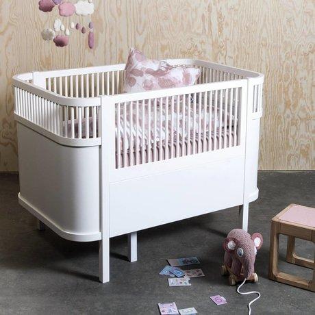 Sebra Bed baby & junior wit hout 112,5-155x70x88cm