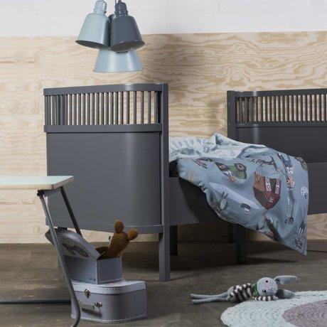 Sebra Bed baby & junior donker grijs hout 112,5-155x70x88cm