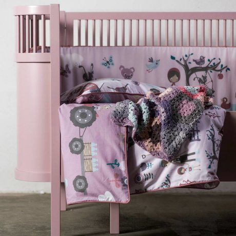Sebra Bed baby & junior roze hout 112,5-155x70x88cm