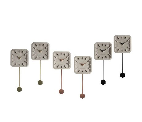 Zuiver Klok Tiktak Time Mix set van 6 multicolour 15,5×37,5×4cm