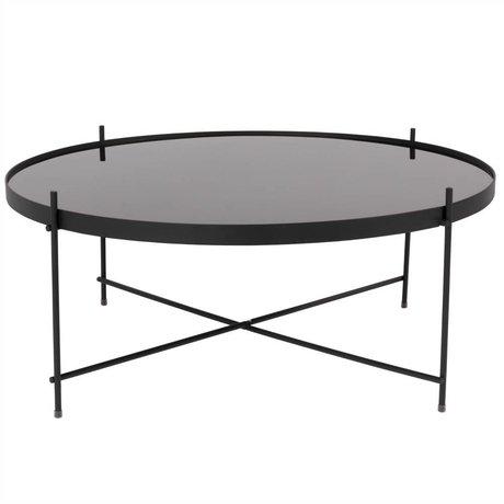 Zuiver Bijzettafel Cupid XXL black, metaal zwart Ø82,5×35cm