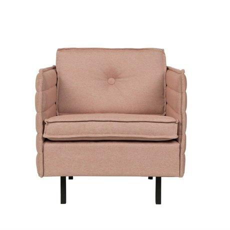 Zuiver Fauteuil Jaey roze textiel metaal 72x90x76cm
