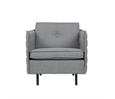 Zuiver Fauteuil Jaey licht grijs textiel metaal 72x90x76cm