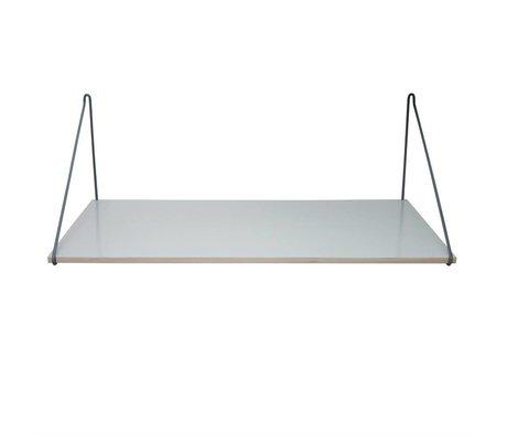 Sebra Bureau donker grijs hout 90x55cm