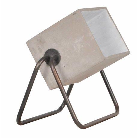 Zuiver Vloerlamp Concrete up cement grijs 38x27x45cm