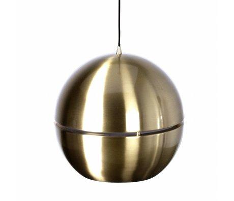 Zuiver Hanglamp 'Retro 70' goud metaal Ø40x37cm