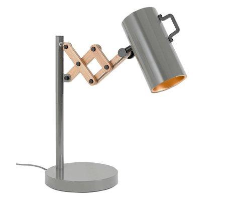 Zuiver Tafellamp Flex staal hout grijs 22x29,5-45x50cm
