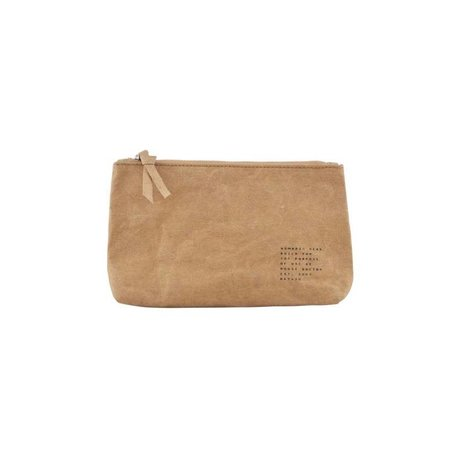 Housedoctor Make-up tas Nomadic kraftpapier bruin 20x12x3,5cm
