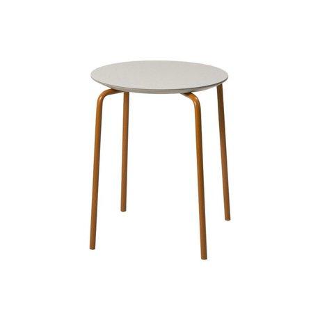 Ferm Living Kruk Herman licht grijs hout metaal 35,5x43x30,5cm