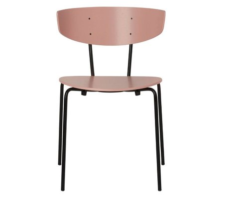 Ferm Living Eetkamerstoel Herman roze hout metaal 50x74x47cm