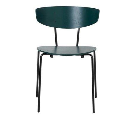 Ferm Living Eetkamerstoel Herman donker groen hout metaal 50x74x47cm