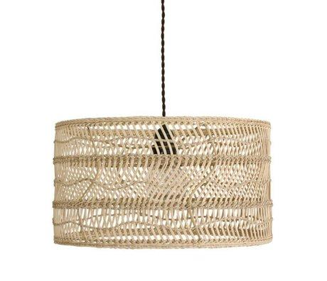 HK-living Hanglamp bruin riet 40x40x22cm