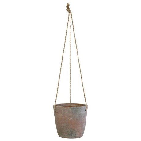 HK-living Hangpot multicolour cement large 17,5x17,5x16cm