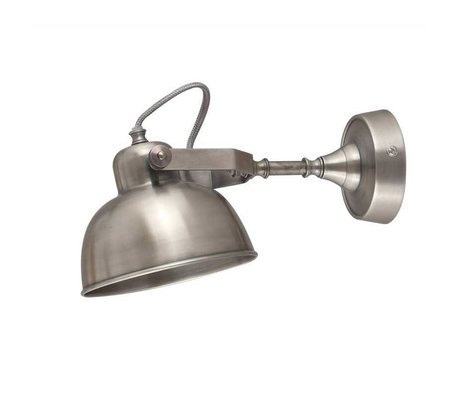 LEF collections Wandlamp giens zilver XL metaal 16x30x15cm