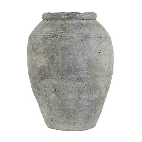 HK-living Vaas grijs cement large 24x24x33cm