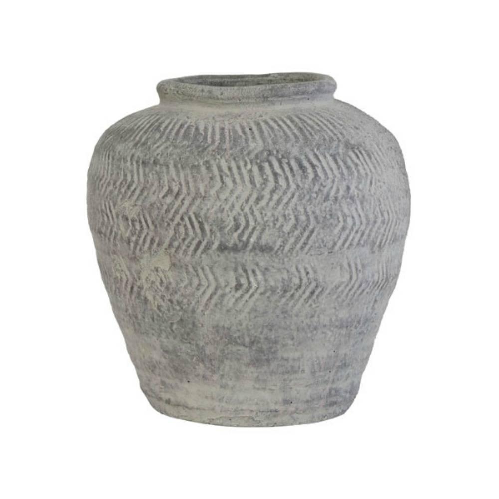 HK - living Vaas cement medium 24, 5x24, 5x26cm