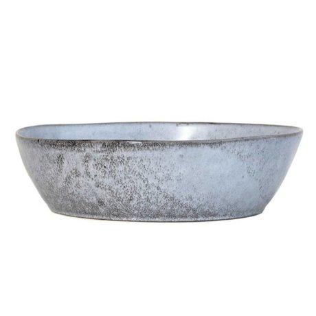 HK-living schaal grijs keramiek large 27x27x7,6cm
