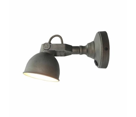 LEF collections Wandlamp bow grijs metaal M 14x11x14cm