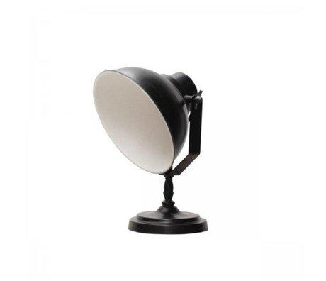 LEF collections Tafellamp urban zwart metaal 26x18x32cm