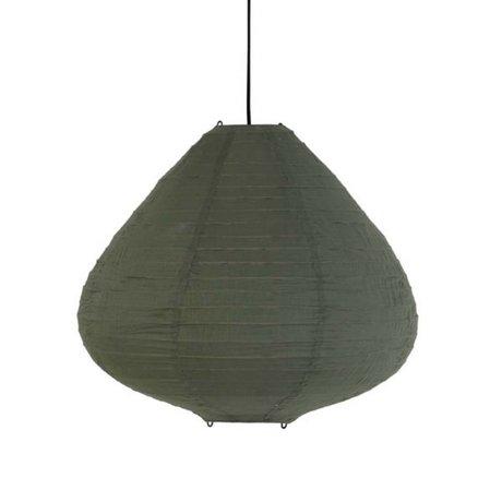 HK-living Lampion leger groen katoen 65cm