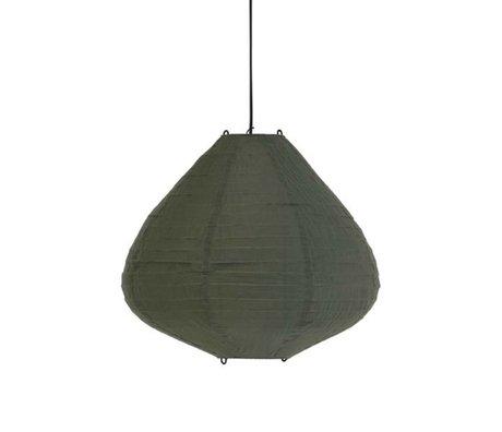 HK-living Lampion leger groen katoen 50cm