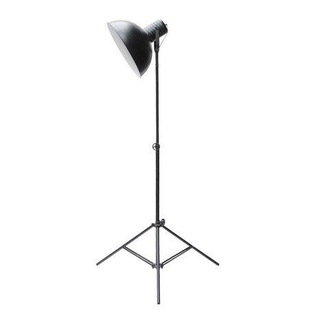 LEF collections Vloerlamp urban zwart metaal 80x190cm