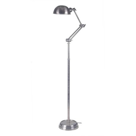 LEF collections Vloerlamp bologna zilver metaal 25x40x140-170cm