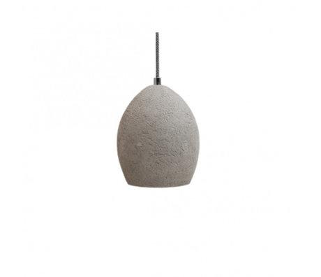 LEF collections Hanglamp solo grijs beton M 17x17x20cm