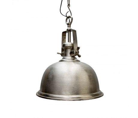 LEF collections Hanglamp tenerif zilver/grijs metaal 38x38x50cm