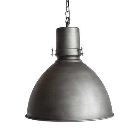 LEF collections Hanglamp strike grijs metaal 39x39x40cm