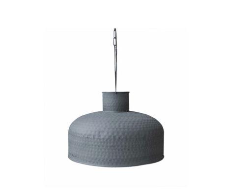 LEF collections Hanglamp carlos grijs metaal 45x45x25cm