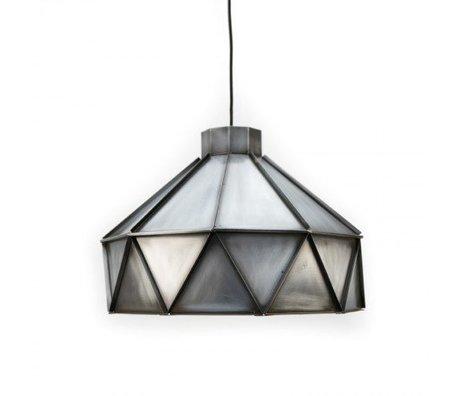 LEF collections Hanglamp Triangle zink grijs aluminium 42x42x32cm